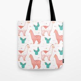 Coral Llama Tote Bag