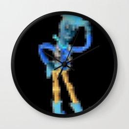 Woody Pixel Poster Wall Clock