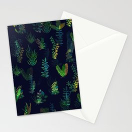 green garden at nigth power version Stationery Cards