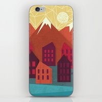 mountains iPhone & iPod Skins featuring Mountains by Kakel
