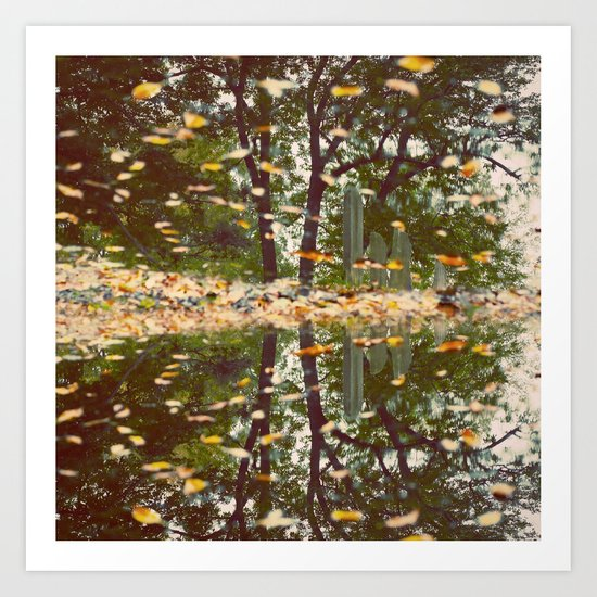 Grave Autumn Art Print