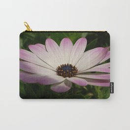 Side View of A Pink and White Osteospermum Carry-All Pouch