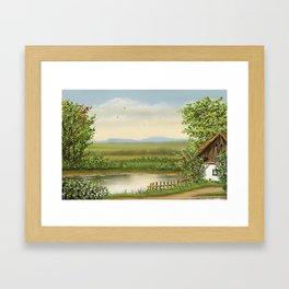At Lake Framed Art Print
