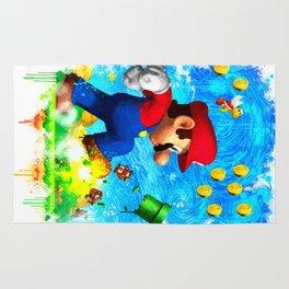 Super Mario Van Gogh style Rug