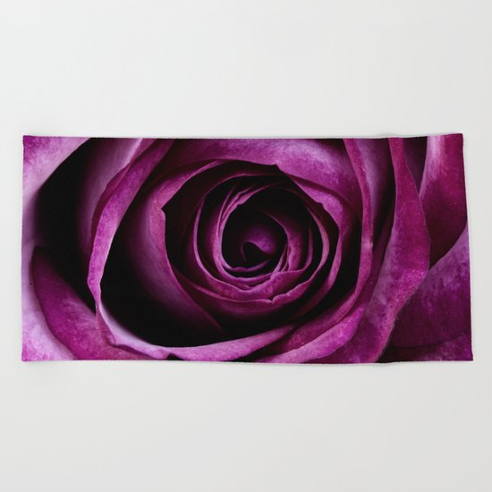 rose mauve plant 5 Beach Towel