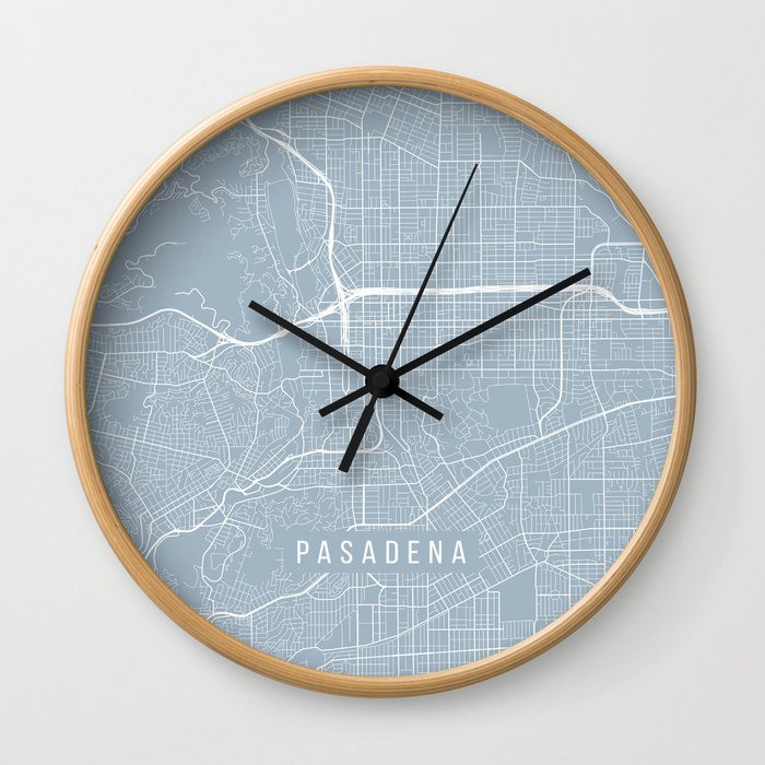 Pasadena Map, USA - Slate Wall Clock