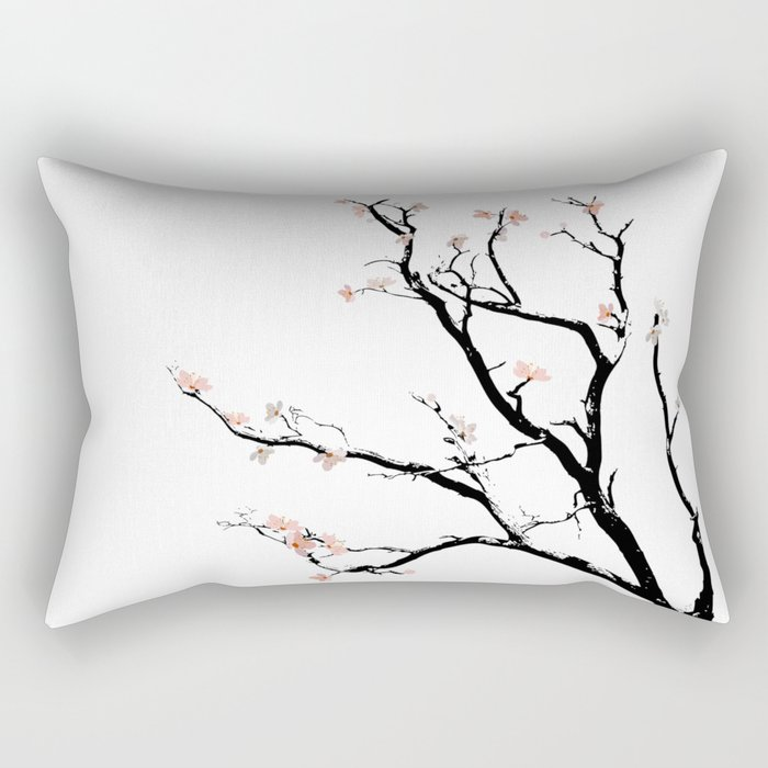 Cherry Blossoms tree Rectangular Pillow