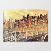 takmaj Canvas Prints featuring Amsterdam by takmaj