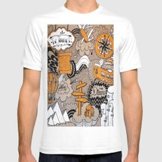 The Journey Is Part Of The Dream  Mens Fitted Tee MEDIUM White