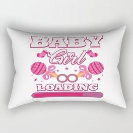 Baby Is Loading Girl Pregnancy Announcement Gift Rectangular Pillow