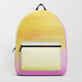 Pink and Yellow Wash Backpack