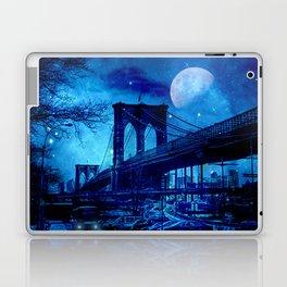 Full Moon Over Brooklyn Bridge Laptop & iPad Skin