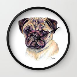 Pug - Dog Portrait Wall Clock