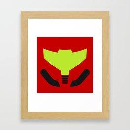 Samus' visor Framed Art Print