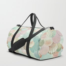 MERMAID SHELLS - MINT & ROSEGOLD Duffle Bag