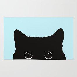 Black cat I Rug