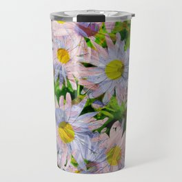 DAISEY MADNESS ABSTRACT  Travel Mug