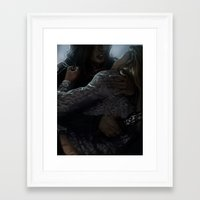 swan queen Framed Art Prints featuring Swan Queen by Alex Alarcon
