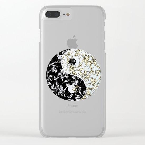 Yin Yang Clear iPhone Case