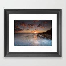 West Side Sunset Framed Art Print