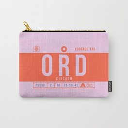 Luggage Tag B - ORD Chicago USA Carry-All Pouch