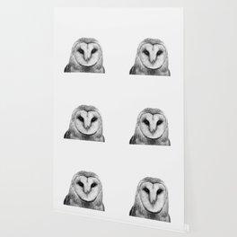 Black and white Owl Wallpaper