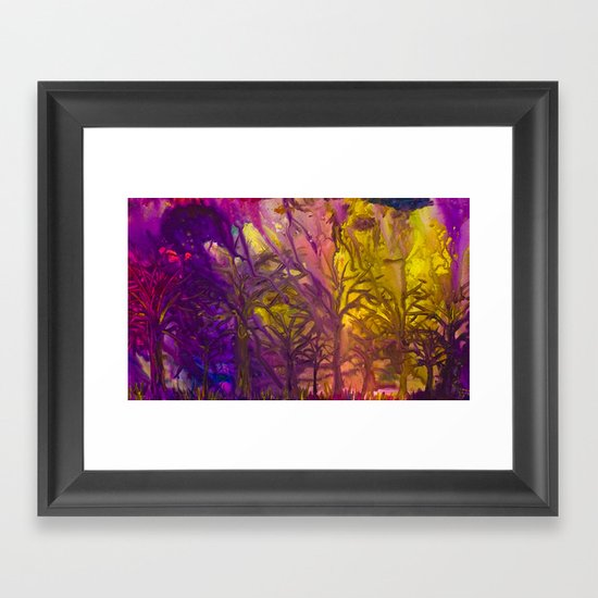 Psychedelic Forest Fire Framed Art Print