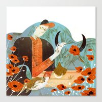 taurus Canvas Prints featuring Taurus by Leonard Peng