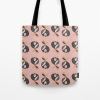 apple Tote Bags featuring Apple by FLATOWL