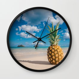 Pineapple and the Mokes Wall Clock