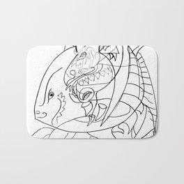 Dragon with horse Bath Mat