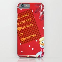 christmas hugs iPhone Case