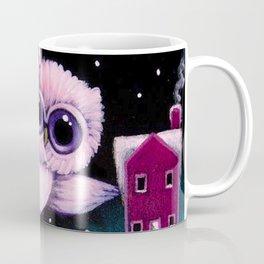 HOLIDAY TINY OWL BEHIND THE PINE CONES Coffee Mug