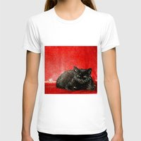 sofa T-shirts featuring cat on red sofa by ANArt