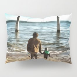 Father and sun looking into future Pillow Sham