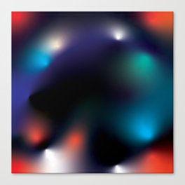 Mystic Abstract Color Play Painting Canvas Print