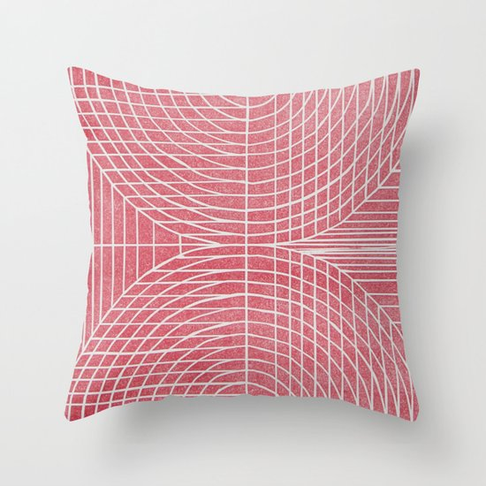 Robotic Boobs Red Throw Pillow