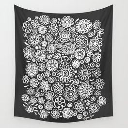 of flowers and planets Wall Tapestry