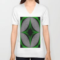 gem V-neck T-shirts featuring Green Gem by Sartoris ART