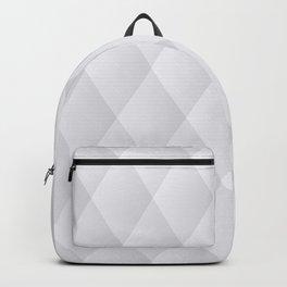 White Geometric Diamonds Backpack