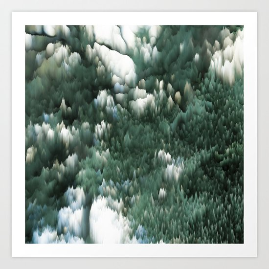 Ice and green Art Print