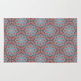 Volcanic Eruption Abstract Print Seamless Pattern Rug