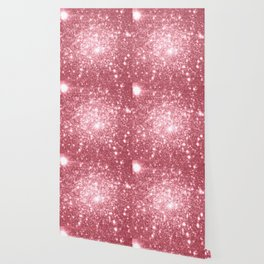 Pink Sparkle Stars Wallpaper