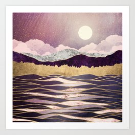 Lunar Waves Art Print