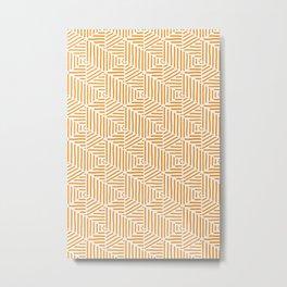 Geo Triangles - Orange Stripe Metal Print