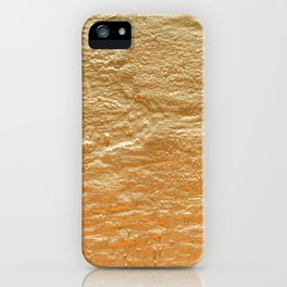 TEXTURED GOLD FOIL WALL iPhone Case
