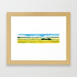 Long Prairie Framed Art Print