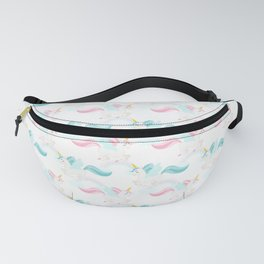 Cute Flying Unicorns and Rainbows – Pastel Pink and Blue Fanny Pack