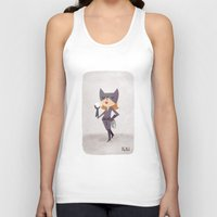 catwoman Tank Tops featuring Catwoman by Popol