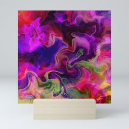 Color soup Mini Art Print